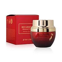 Red Ginseng Moisture Cream [3W CLINIC] Крем для лица с экстрактом красного женьшеня 50 мл
