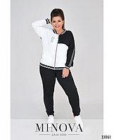 Женский спортивный костюм, черно-белый