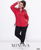 Женский спортивный костюм, красный