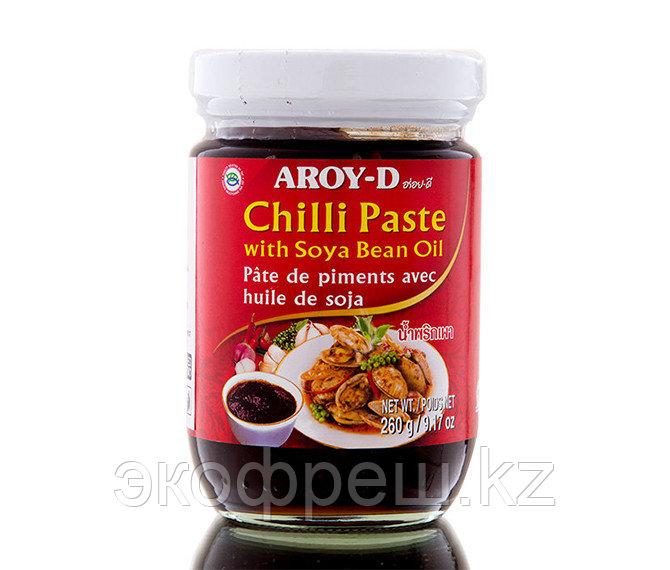 Паста Чили с соевым маслом, Aroy-D, 260 гр