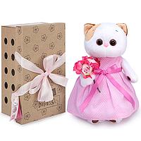 Котик Ли-Ли в розовом платье с букетом 27-048