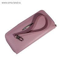 Кошелёк женский, молния, цвет розовый флотер