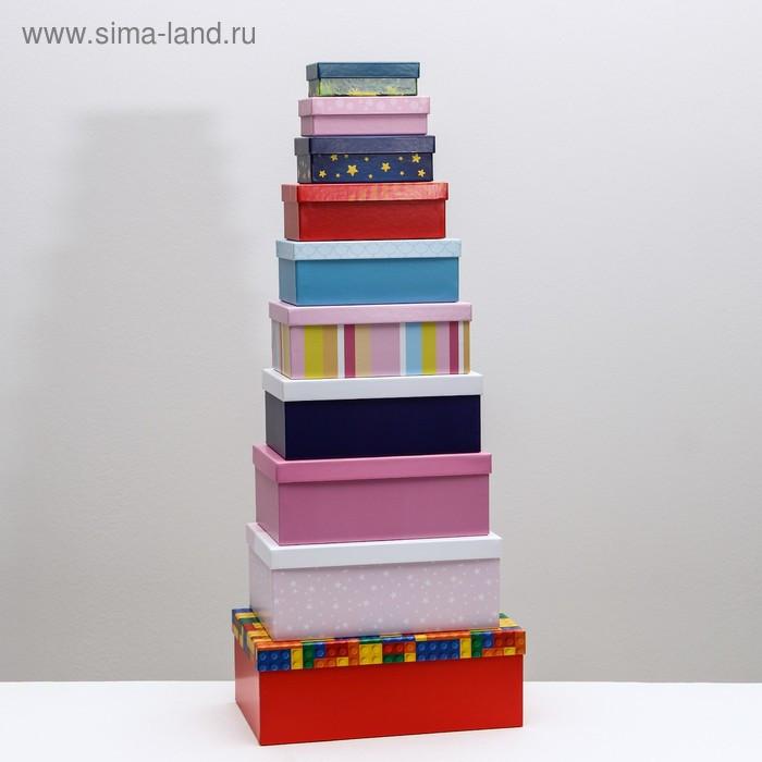 Набор подарочных коробок 10 в 1 «Детство», 12 × 7 × 4 - 32.5 × 20 × 12.5 см - фото 7