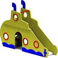 Горка детская в виде подводной лодки, с сидениями, фото 1