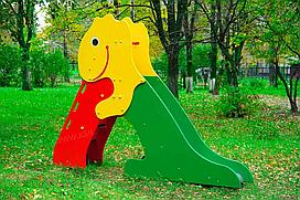 Горка детская, маленькая, в виде динозавра