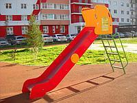 Горка детская, металлическая красная, желтая, фото 1
