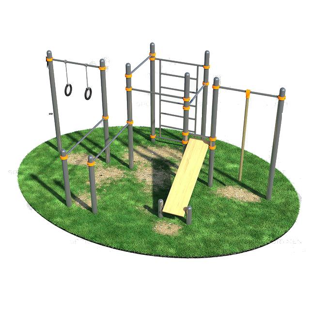 Спортивный комплекс, брусья, кольца гимнастические, шведская стенка, канат, турники