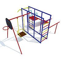 Детский комплекс, качели, щит баскетбольный, турник, горка, шведская стенка, фото 1