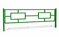 Ограждение металлическое прямоугольники