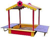 Песочница детская с крышей, раскладывающаяся, фото 1