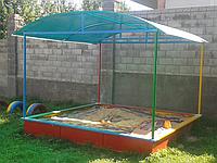 Песочница детская, большая, с крышей