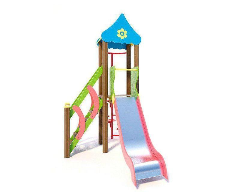 Детский городок, горка, лестница, с крышей