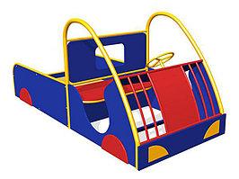 Песочница детская в виде машинка, с сидениями, с рулем