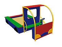 Песочница детская, в виде машинки, с сиденями, с рулём