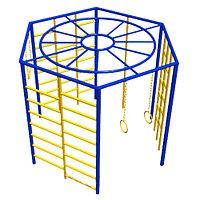 Спортивный комплекс, рукоход круговой, кольца гимнастические, шведская стенка