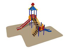 Игровой комплекс Romana, горки, лестницы, домик с крышей