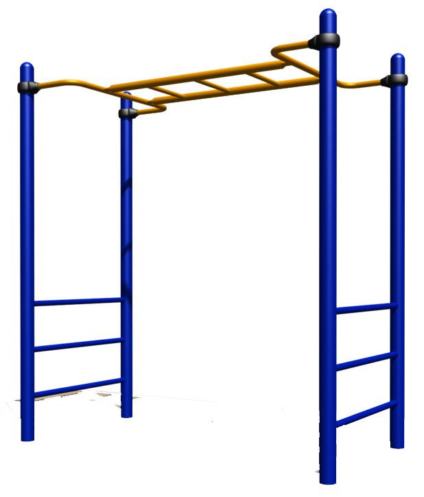 Спортивный комплекс рукоход, желтый синий