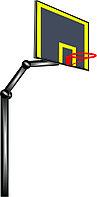Баскетбольный щит металлический