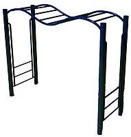 Рукоход спортивный, с лестницей волной