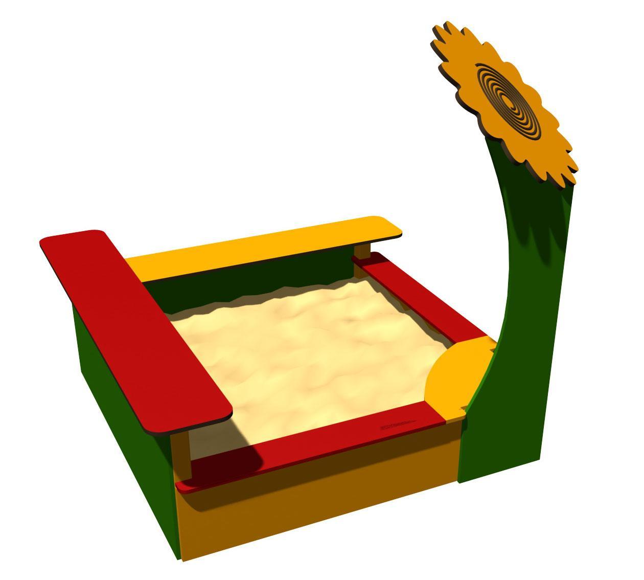 Песочница Romana, с сидениями, в виде подсолнуха