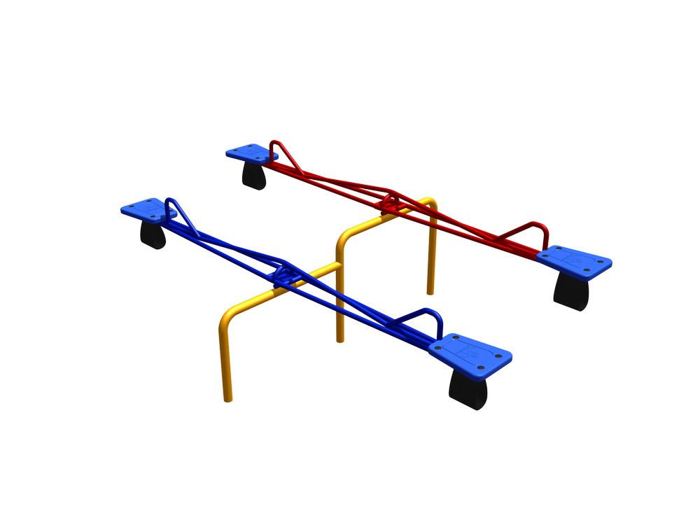 Балансир балансир двойной, синий красный