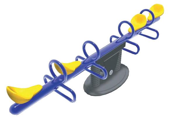 Балансир детский двойной синий, желтый