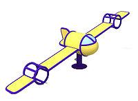 Балансир в виде самолёта желтый, синий