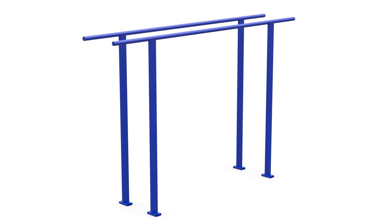 Брусья металлические синие