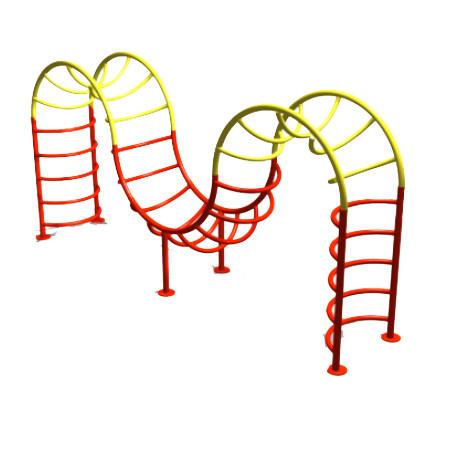 Спортивные рукоходы металлические, красные желтые