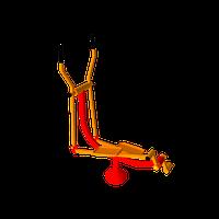 Уличный тренажер для рук ног спины пресса