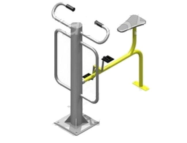 Уличный тренажер металлический,велотренажер