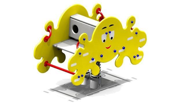 Качалка на пружине детская, жёлтая