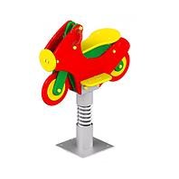 Качеля пружина детская в форме мотоцикла