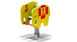 Качеля пружина детская, металлическая, в видео слоника, жёлтая