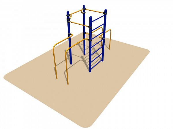 Спортивное оборудование Romana лестница, стойка,турники, брусья, металл