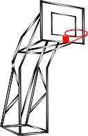 Баскетбольный шит, металлический