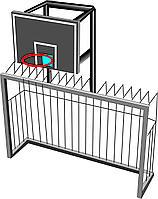 Баскетбольный щит с воротами, металлический