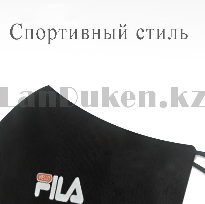 Многоразовая защитная маска спортивная с резинкой для регулировки длины Fashion Mask Fila в ассортименте - фото 3
