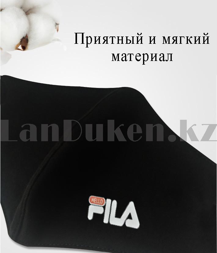 Многоразовая защитная маска спортивная с резинкой для регулировки длины Fashion Mask Fila в ассортименте - фото 2
