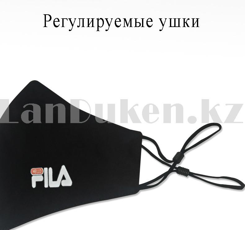 Многоразовая защитная маска спортивная с резинкой для регулировки длины Fashion Mask Fila в ассортименте - фото 4