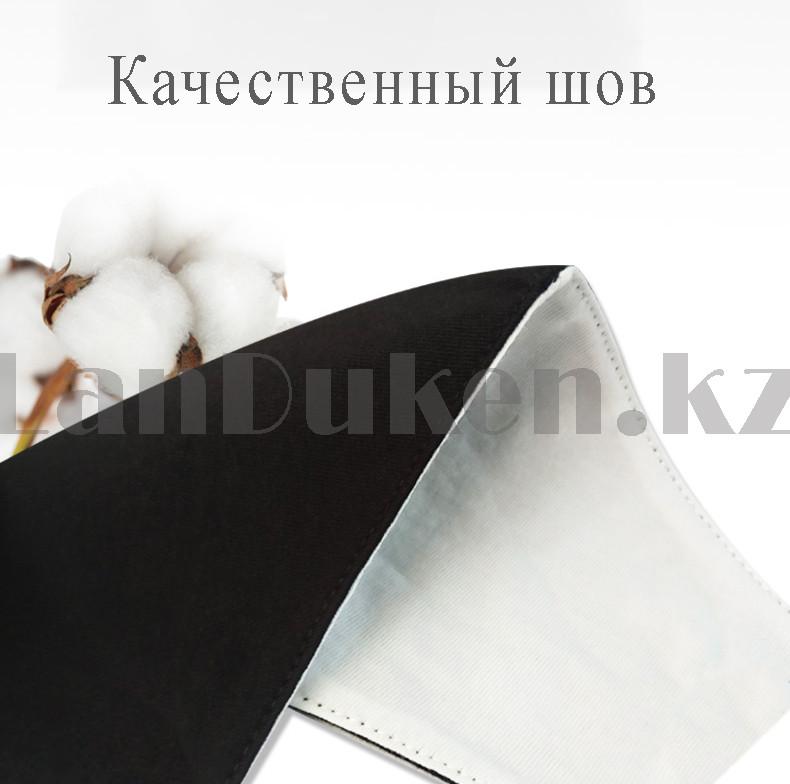 Многоразовая защитная маска спортивная с резинкой для регулировки длины Fashion Mask Fila в ассортименте - фото 5