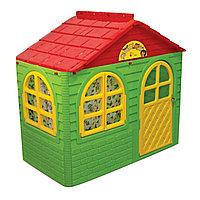 Домик детский №1 Doloni зеленый/красный 69*129см 025500/13