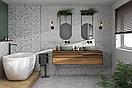 Кафель   Плитка настенная 20х60 Терраццо   Terrazzo серый пэчворк, фото 5