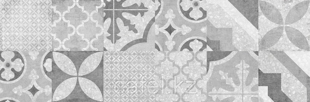 Кафель   Плитка настенная 20х60 Терраццо   Terrazzo серый пэчворк