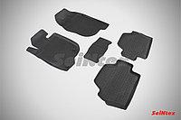 Резиновые коврики с высоким бортом для Mitsubishi Pajero Sport 2008-2015