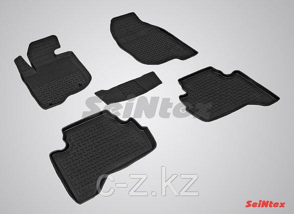Резиновые коврики с высоким бортом для Mitsubishi L200 2006-2015, фото 2