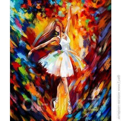 """НАБОР ДЛЯ ТВОРЧЕСТВА """"КАРТИНА ПО НОМЕРАМ. 40Х50СМ """"Балерина"""""""