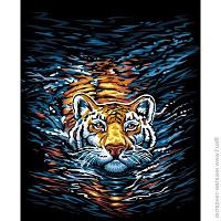 "НАБОР ДЛЯ ТВОРЧЕСТВА ""КАРТИНА ПО НОМЕРАМ. 40Х40СМ ""Тигр"""