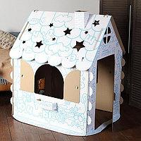 Картонный домик-раскраска Хоммик, фото 1