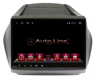 Автомагнитола AutoLine Ravon R4 4-x ядерный, 16 gb, android 10